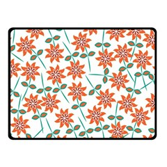 Floral Seamless Pattern Vector Double Sided Fleece Blanket (small)