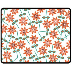 Floral Seamless Pattern Vector Double Sided Fleece Blanket (medium)