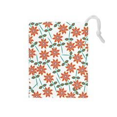 Floral Seamless Pattern Vector Drawstring Pouches (medium)