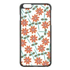 Floral Seamless Pattern Vector Apple Iphone 6 Plus/6s Plus Black Enamel Case