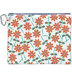 Floral Seamless Pattern Vector Canvas Cosmetic Bag (XXXL)