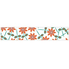 Floral Seamless Pattern Vector Flano Scarf (Large)