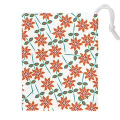 Floral Seamless Pattern Vector Drawstring Pouches (XXL)