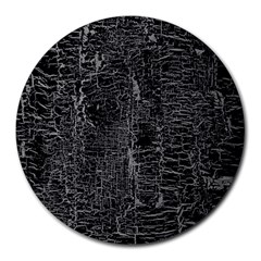 Old Black Background Round Mousepads