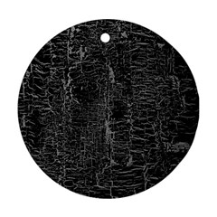 Old Black Background Ornament (round)