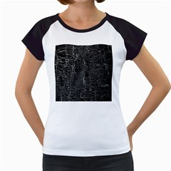 Old Black Background Women s Cap Sleeve T