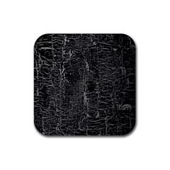 Old Black Background Rubber Coaster (square)