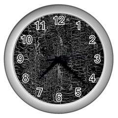 Old Black Background Wall Clocks (Silver)