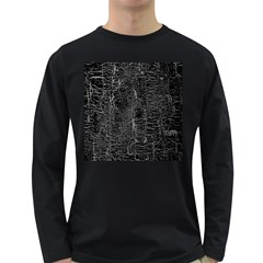 Old Black Background Long Sleeve Dark T Shirts