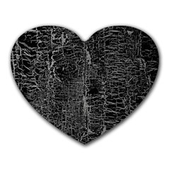 Old Black Background Heart Mousepads