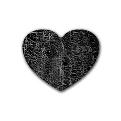 Old Black Background Rubber Coaster (heart)