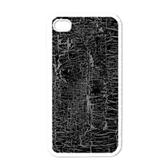 Old Black Background Apple iPhone 4 Case (White)