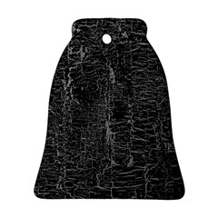 Old Black Background Bell Ornament (Two Sides)