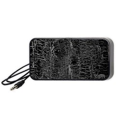 Old Black Background Portable Speaker (black)
