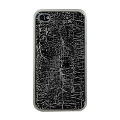 Old Black Background Apple Iphone 4 Case (clear)