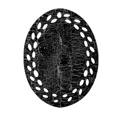 Old Black Background Oval Filigree Ornament (two Sides)