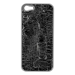 Old Black Background Apple iPhone 5 Case (Silver)