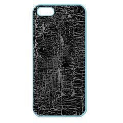Old Black Background Apple Seamless Iphone 5 Case (color)