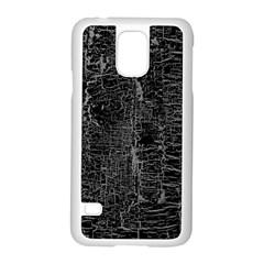 Old Black Background Samsung Galaxy S5 Case (White)