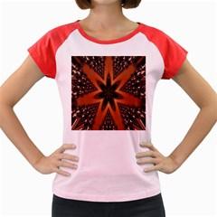 Digital Kaleidoskop Computer Graphic Women s Cap Sleeve T-Shirt