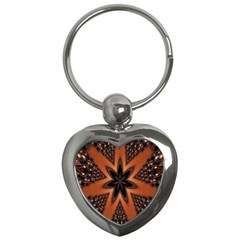 Digital Kaleidoskop Computer Graphic Key Chains (Heart)