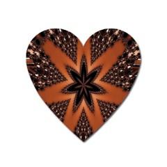 Digital Kaleidoskop Computer Graphic Heart Magnet