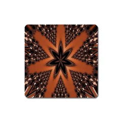 Digital Kaleidoskop Computer Graphic Square Magnet