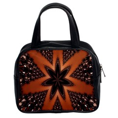 Digital Kaleidoskop Computer Graphic Classic Handbags (2 Sides)