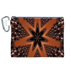 Digital Kaleidoskop Computer Graphic Canvas Cosmetic Bag (XL)