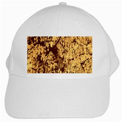 Abstract Brachiate Structure Yellow And Black Dendritic Pattern White Cap