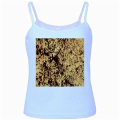 Abstract Brachiate Structure Yellow And Black Dendritic Pattern Baby Blue Spaghetti Tank
