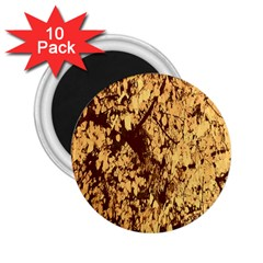 Abstract Brachiate Structure Yellow And Black Dendritic Pattern 2 25  Magnets (10 Pack)