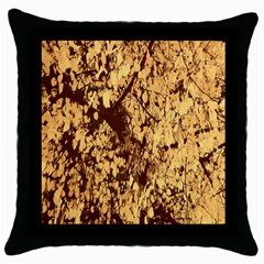 Abstract Brachiate Structure Yellow And Black Dendritic Pattern Throw Pillow Case (black)