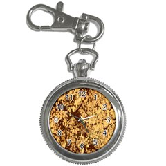 Abstract Brachiate Structure Yellow And Black Dendritic Pattern Key Chain Watches