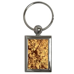 Abstract Brachiate Structure Yellow And Black Dendritic Pattern Key Chains (Rectangle)