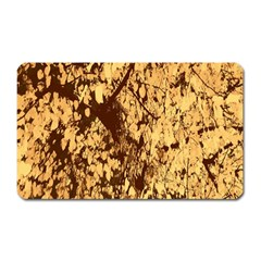 Abstract Brachiate Structure Yellow And Black Dendritic Pattern Magnet (rectangular)