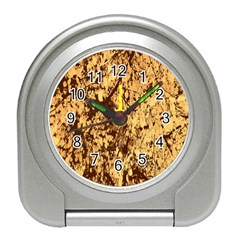Abstract Brachiate Structure Yellow And Black Dendritic Pattern Travel Alarm Clocks