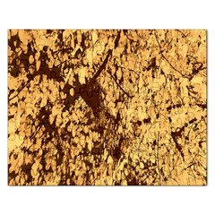 Abstract Brachiate Structure Yellow And Black Dendritic Pattern Rectangular Jigsaw Puzzl