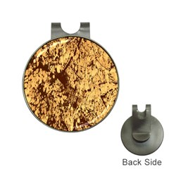 Abstract Brachiate Structure Yellow And Black Dendritic Pattern Hat Clips with Golf Markers