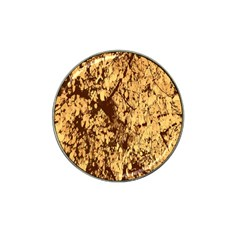 Abstract Brachiate Structure Yellow And Black Dendritic Pattern Hat Clip Ball Marker