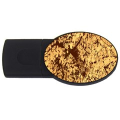 Abstract Brachiate Structure Yellow And Black Dendritic Pattern USB Flash Drive Oval (4 GB)