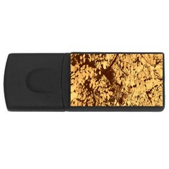 Abstract Brachiate Structure Yellow And Black Dendritic Pattern USB Flash Drive Rectangular (4 GB)