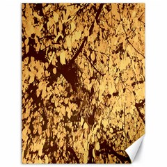 Abstract Brachiate Structure Yellow And Black Dendritic Pattern Canvas 18  X 24