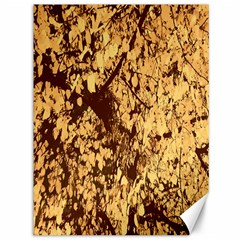 Abstract Brachiate Structure Yellow And Black Dendritic Pattern Canvas 36  X 48