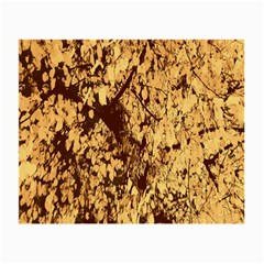 Abstract Brachiate Structure Yellow And Black Dendritic Pattern Small Glasses Cloth (2-Side)