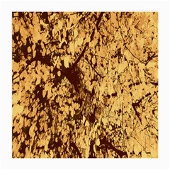 Abstract Brachiate Structure Yellow And Black Dendritic Pattern Medium Glasses Cloth (2-Side)