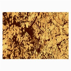 Abstract Brachiate Structure Yellow And Black Dendritic Pattern Large Glasses Cloth
