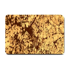 Abstract Brachiate Structure Yellow And Black Dendritic Pattern Small Doormat