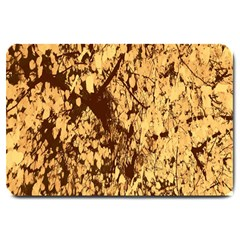 Abstract Brachiate Structure Yellow And Black Dendritic Pattern Large Doormat