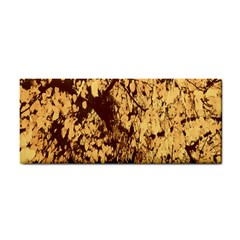 Abstract Brachiate Structure Yellow And Black Dendritic Pattern Cosmetic Storage Cases
